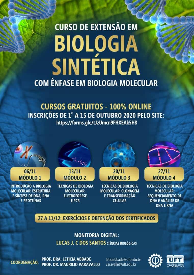 Curso De Extensao Gratuito Em Biologia Sintetica Biologia Na Rede